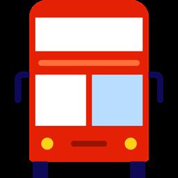 Transportation Double Decker Bus Transport Vehicle Automobile Public Transport Icon