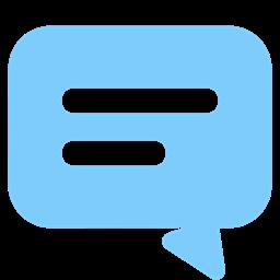 Bubble Conversaion Message Text Chat Talk Active Icon