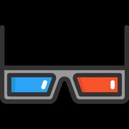 Film Movie 3d Glasses Entertainment Filming Cinema Icon