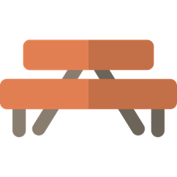 Picnic Table Furniture And Household Nature Camping Park Barbecue Rest Area Icon