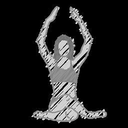 Health Exercise Meditation Pose Body Fitness Yoga Icon