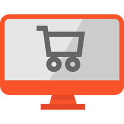 Monitor Screen Commerce Shopping Bag Supermarket Online Shop Commerce And Shopping Icon