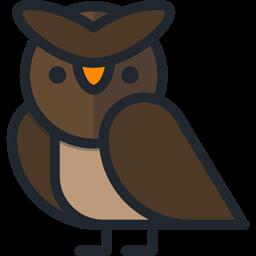 Bird Hunter Owl Animals Icon