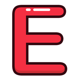 Letter red alphabet e letters icon thecheapjerseys Choice Image