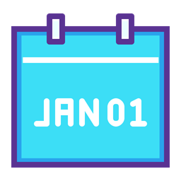 Month Day January New Year Calendar Date Event Icon