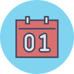 Calendar Date Event Month Day January New Year Icon
