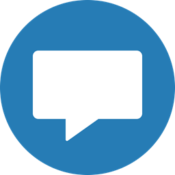 Chat Circle Messaging Chatting Blue Message Comment Icon
