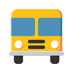 School Learn Education Student Bus Study Icon
