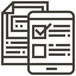 Business Finance Report Checklist Payment Smartphone Accounting Icon