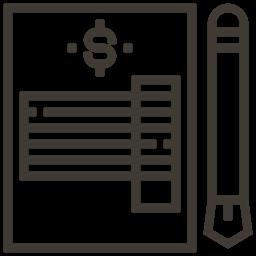 Business Finance Invoice Loan Tax Asset Pawnshop Icon