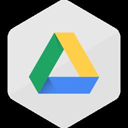 Media Social Media Social Colored Hexagon Google Drive High Quality Icon