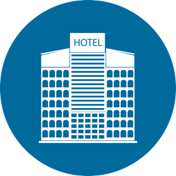 Home Building City Hotel Icon