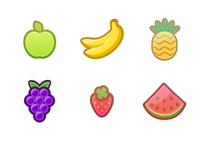 Fruits icon packages