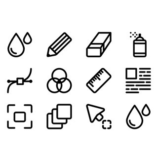Drawing Tools icon packages