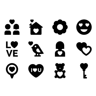 Love and Romance icon packages