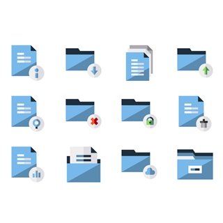 Files and folders icon packages