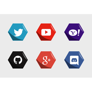 Hexagon Social Medias icon packages