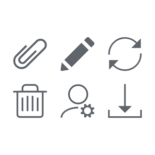 UI Actions icon packages