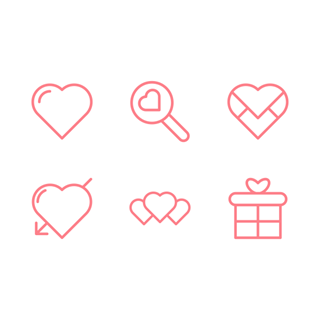 Love and Valentine's day icon packages