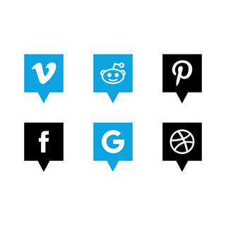 Free Social Media Pin icon packages