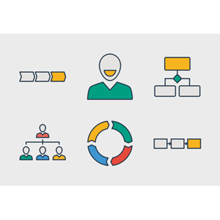Business process 1 icon packages