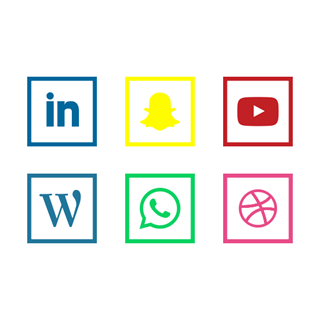 Social Media | Square Flat icon packages