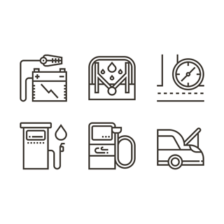 Car Accessories icon packages