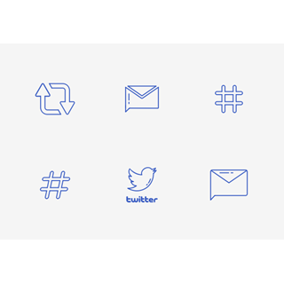 Twitter UI icon packages