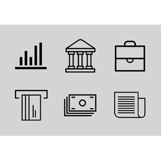 Banking icon set icon packages