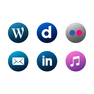 Social Media | Circle icon packages