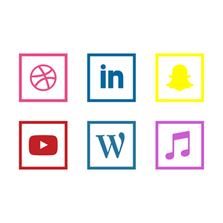 Social Media | Square Line icon packages
