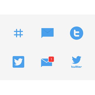 Twitter UI - Flat icon packages