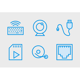Computer Hardware Cute Style vol 1 icon packages