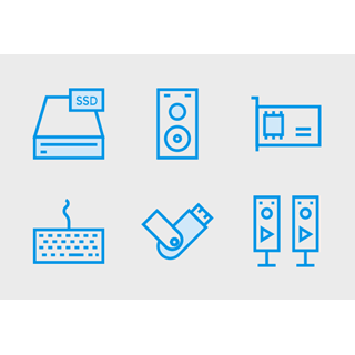 Computer Hardware Cute Style vol 2 icon packages