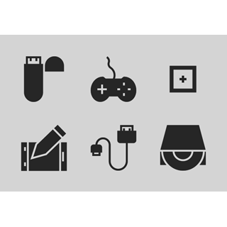 Computer Hardware Glyphs vol 1 icon packages