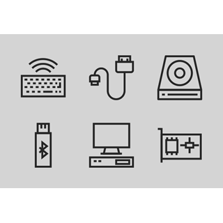 Computer Hardware Line vol 1 icon packages