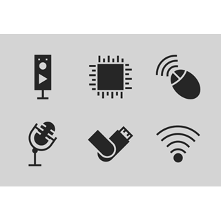 Computer Hardware Glyphs vol 2 icon packages