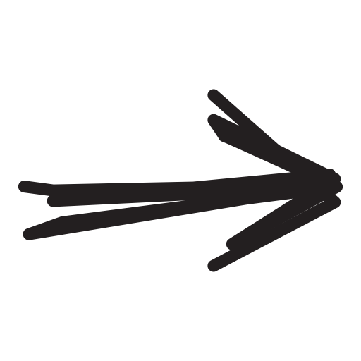 Pencil X on Maroon Arrow