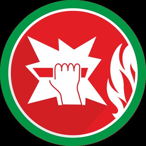 Car Transport Service >> fire, Break, glass, danger icon