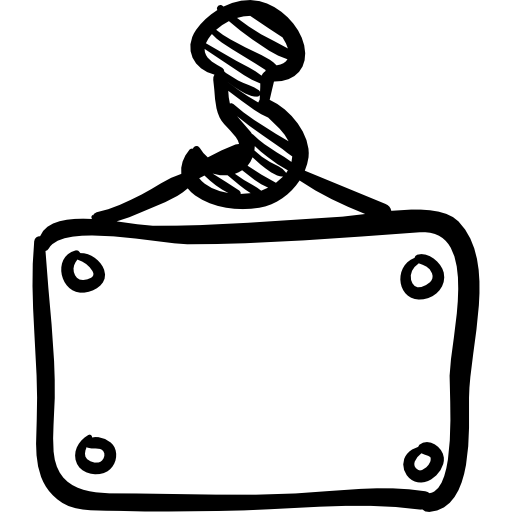 holding hand drawn box construction hand drawn construction