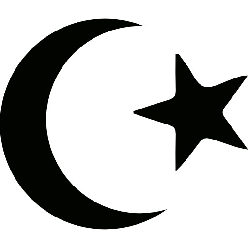 Half Moon, nature, muslim, symbol, islam, star icon