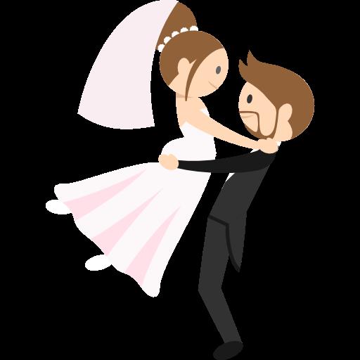 romantic  groom  wedding couple  bride  people icon