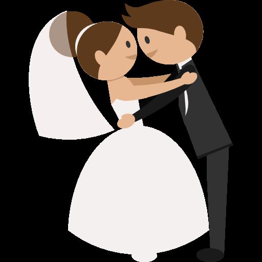 Wedding Couple Clipart Png: Wedding Couple, Groom, Bride, People, Romantic Icon