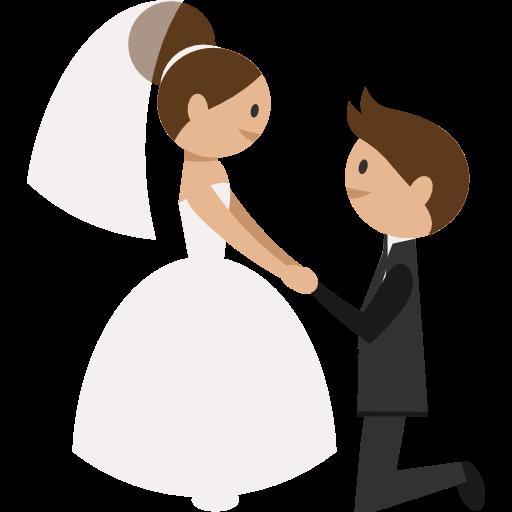 Wedding Couple Clipart Png: Romantic, Wedding Couple, Groom, Bride, People Icon