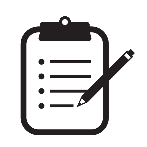 Clipboard, pencil, Pen, Notes icon
