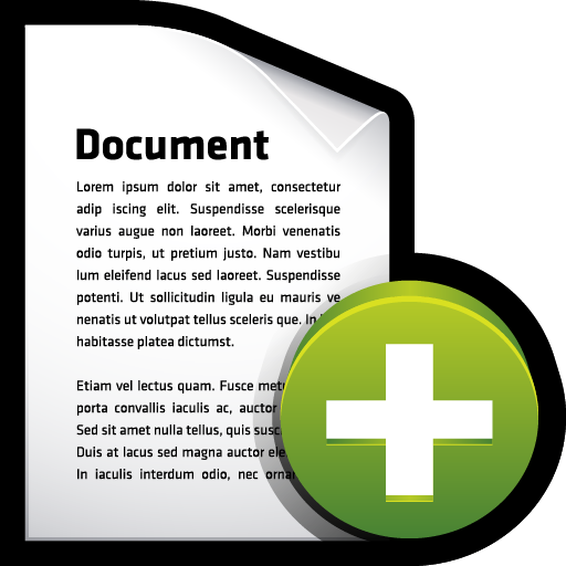 document, create, File, Add icon