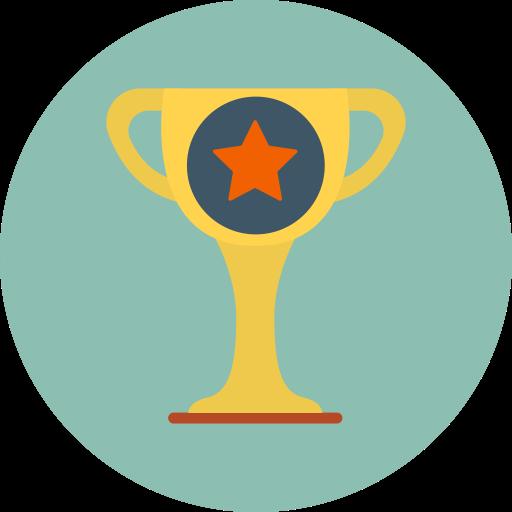 Achievement Champion Trophy Icon