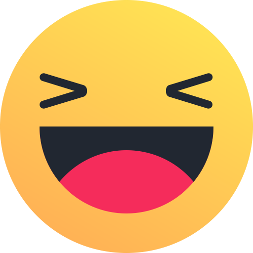 laugh, Emoticon, smile, joy, happy, Emoji, reaction icon