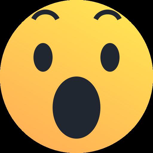 shock reaction emoji surprise emoticon amaze icon