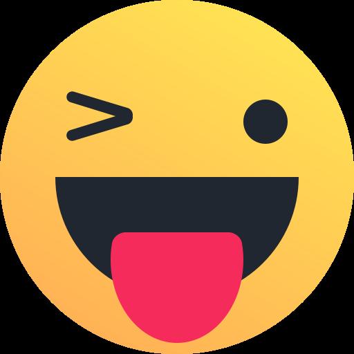 happy  reaction  tongue  smiley  wink  emoticon icon